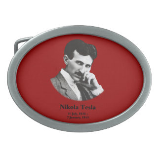 Young Tesla Oval Belt Buckle
