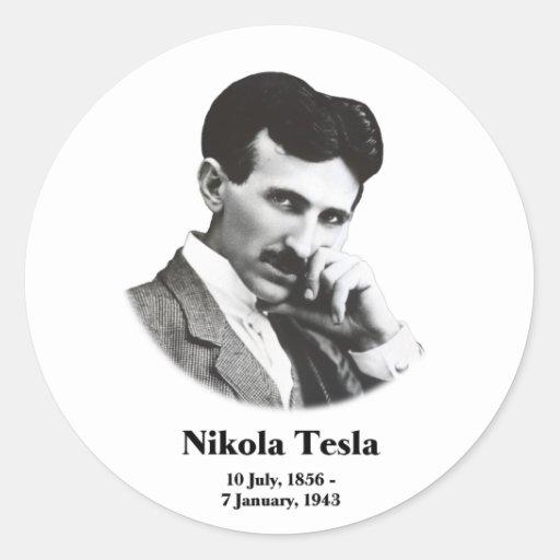 Young Tesla Round Stickers Sticker
