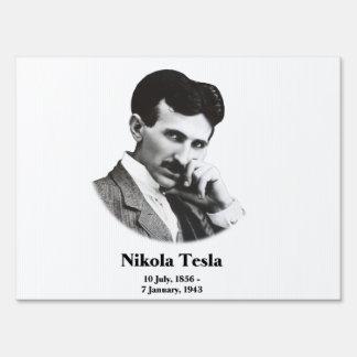 Young Tesla Sign