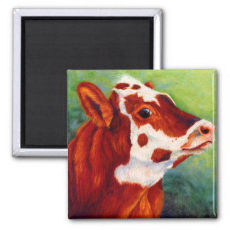 Young Tess - Spotted Calf 2 Inch Square Magnet
