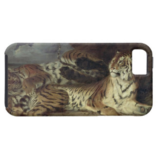 Young tiger playing with his mother, 1830 (oil on iPhone SE/5/5s case