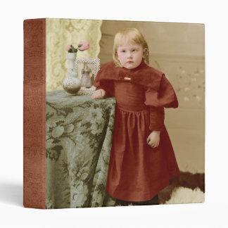 Young Toddler Victorian Girl Tinted Binder