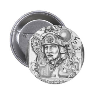 Young Toltec 2 Inch Round Button