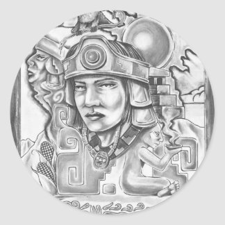 Young Toltec Classic Round Sticker