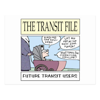 Young Transit Users Postcard