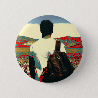 Young traveller pinback button
