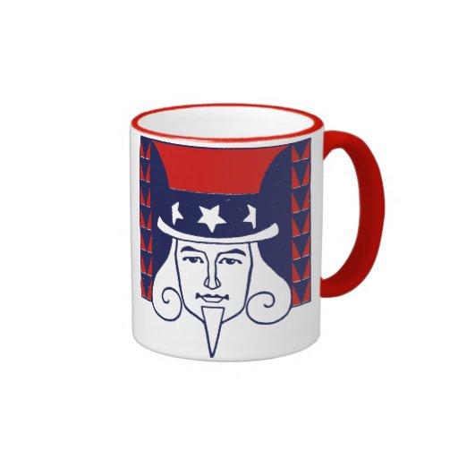 Young Uncle Sam Ringer Coffee Mug