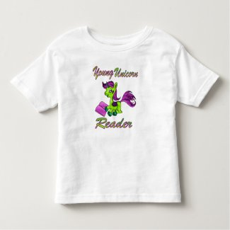 Young Unicorn Reader Toddler T-shirt