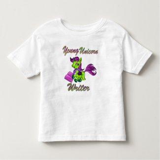Young Unicorn Writer Toddler T-shirt
