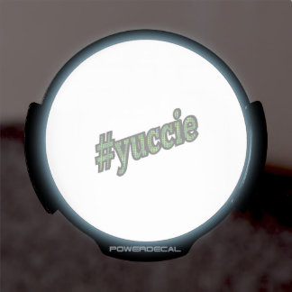Young Urban Creative # Yuccie LED Car Decal