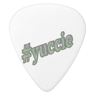 Young Urban Creative # Yuccie White Delrin Guitar Pick