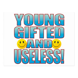 Young Useless Life B Postcard