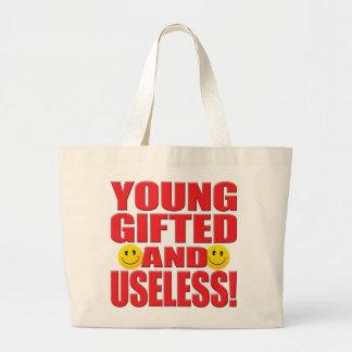 Young Useless Life Jumbo Tote Bag