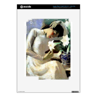 Young Vietnamese Woman with Lily iPad 3 Skin