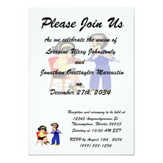 """young violin n flute players graphic.png 5"""" x 7"""" invitation card"""