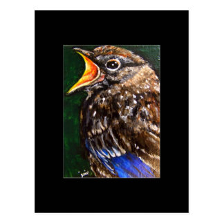 Young Voice (baby Robin) ACEO Art Trading Card