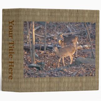 Young Whitetail Deer Series 3 Ring Binder