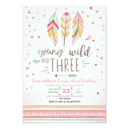 Young wild and three invite Girl Pink Gold 3rd