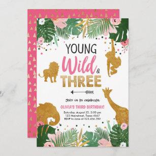 Custom Parties by PartyAtYourDoor on Etsy Young Wild and Three Young Wild and Three Birthday Decor Young Wild and Three Centerpieces