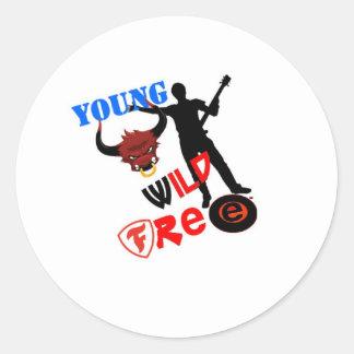 Young,wild & Free Classic Round Sticker