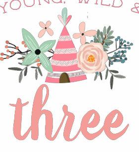 a9adaa3b4996 Young, Wild & Three Birthday Toddler T-shirt