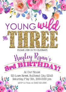 3rd birthday invitations zazzle