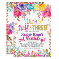 3rd Birthday Invitations Announcements Zazzle
