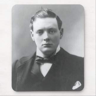 Young Winston Churchill Mouse Pad