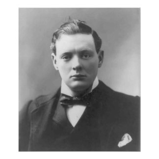 Young Winston Churchill Poster