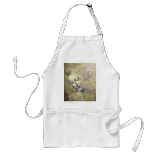 young woman 2 adult apron