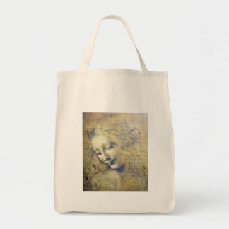 young woman 2 grocery tote bag