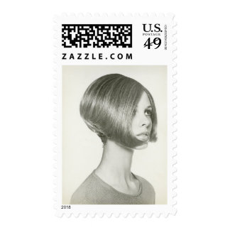 Young Woman 2 Postage Stamps