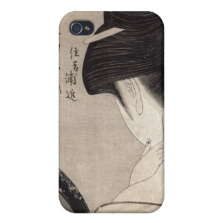 Young woman applying make-up, c.1795-96 iPhone 4 cover