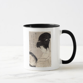 Young woman applying make-up, c.1795-96 mug