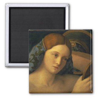 Young Woman at her Toilet 2 Inch Square Magnet