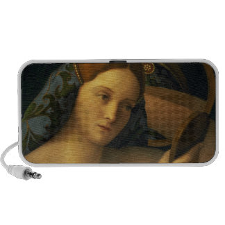 Young Woman at her Toilet Portable Speaker