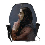 Young Woman at Prayer, 1879 (oil on canvas) Messenger Bags