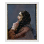 Young Woman at Prayer, 1879 (oil on canvas) Print