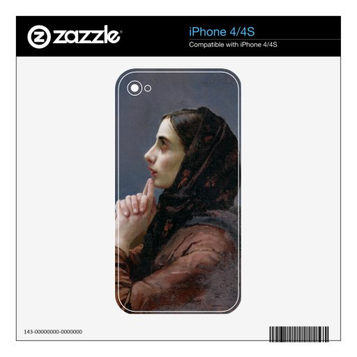 Young Woman at Prayer, 1879 (oil on canvas) Decal For iPhone 4S