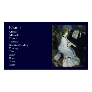 Young Woman at the Piano by Renoir Business Card Templates
