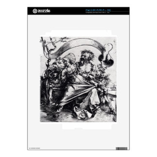 Young Woman Attacked By Death by Albrecht Durer Decals For The iPad 2