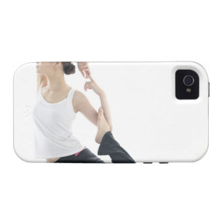 young woman beauty yoga 2 iPhone 4/4S cover