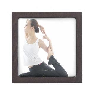 young woman beauty,yoga 2 gift box