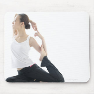 young woman beauty,yoga 2 mouse pad