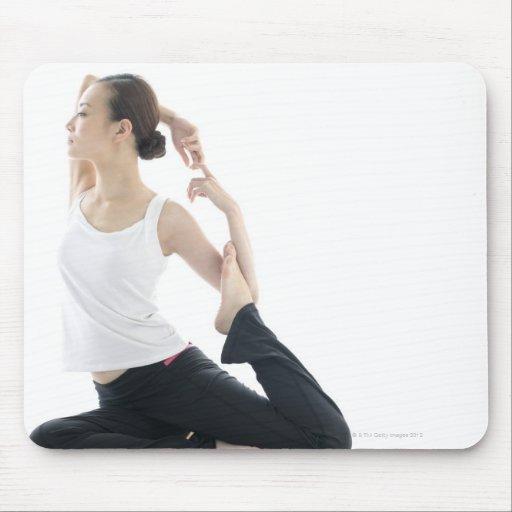young woman beauty,yoga 2 mousepad