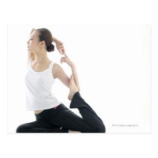 young woman beauty,yoga 2 postcard