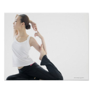 young woman beauty,yoga 2 posters