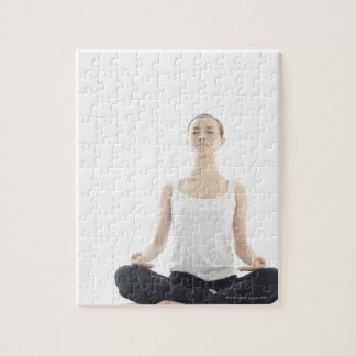 young woman beauty,yoga jigsaw puzzle