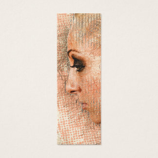 Young Woman Bookmark Mini Business Card