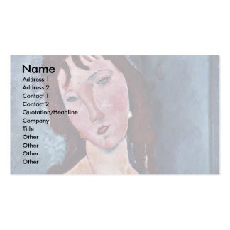 Young Woman By Modigliani Amedeo Business Card Template